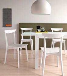 """Krzesło """" evergreen"""" - stelaż krzesła jest drewniany bukowy wybarwiany na 5 kolorów. Do krzesła można dokupić hoker w 2 wysokościach...."""