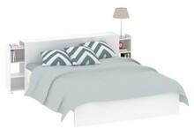 Łóżko Naia 160x200 cm biały połysk - biały