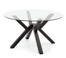 Stół ze szklanym blatem MIKADO 120 cm