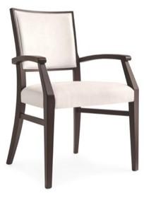 Włoski fotel Victoria. Stelaż drewno lite buk wybarwiany na wenge, obszycie specjalna ekoskóra. Do fotela można dokupić krzesło oraz hoker o tej...