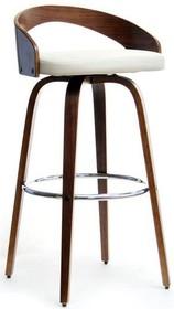 Przedstawiamy Państwu wspaniałe, klasyczne krzesło barowe, którego stelaż wykonany został z drewna orzechowego. Zamontowano także obręcz na stopy,...
