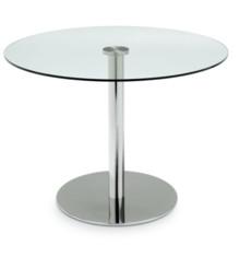 """Włoski stół """"saturn"""" blat szkalny przeźroczysty, podstawa metalowa chromowana. Stół jest dostepny w 2 rozmiarach 80 i 105 cm. Cena..."""