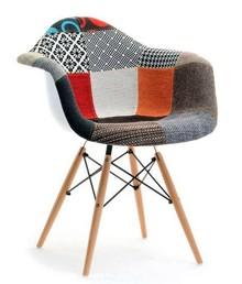 Krzesło kubełkowe MPA WOOD TAP - patchwork/naturalny