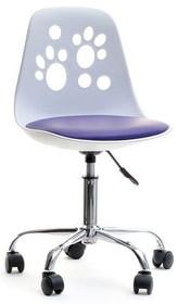 Krzesło obrotowe ze śladem stóp na oparciu to stylowy mebel, który znajdzie zastosowanie w każdym pokoju dziecięcym.  Wygląda bardzo gustownie,...