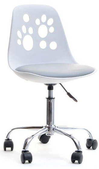 Nowoczesne obrotowe krzesło dla dziecka FOOT niebiesko białe