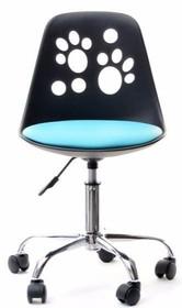 Niebanalne krzesło obrotowe ozdobione śladami stóp będzie świetnym rozwiązaniem do stylowego pokoju dziecięcego.  To mebel nowoczesny, efektowny,...