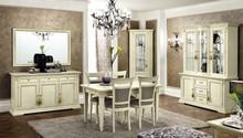 Włoska witryna/kredens TREVISO DAY wykańczana w bieli z efektem postarzanego drewna lub w kolorze czereśni. Posiada ona front szklany o grubości 8 mm....
