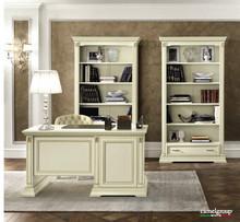 WłoskiregałTREVISODAY wykonany z jesionu i wybarwiany na kolor biały z efektem mebla postarzanego, lub wybarwiany na kolor...