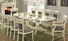 Stylizowany owalny stół TREVISO DAY został wykonany z jesionu i wybarwiany na kolor biały z efektem mebla postarzanego,lub wybarwiany na kolor...