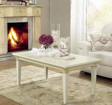 Stylizowanaprostokątnaława TREVISO DAY została wykonana z jesionu i wybarwiana na kolor biały z efektem mebla postarzanego,lub wybarwiana...