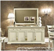 Włoskie prostokątnelustroTREVISO DAY, którego rama została wykonana z jesionu w kolorze białym z efektem mebla postarzanego, lub...