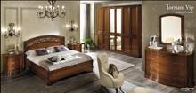 Sypialnia TORRIANI NIGHT to kolekcja włoskich stylizowanych mebli . Na zdjęciu zaprezentowane jest łóżko opowierzchni spania 180/200cm z...