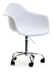 WYMIARY Szerokość: 63 cm Długość: 60 cm Wysokość: 84-96 cm Szerokość siedziska: 42 cm Długość siedziska: 43 cm Wysokość siedziska: 46-58...