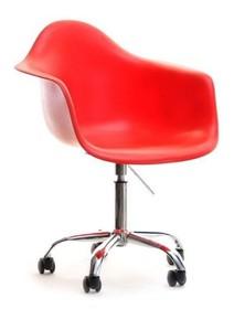 Nowoczesne krzesło obrotowe w wyrazistym, czerwonym kolorze świetnie sprawdzi się we wszystkich designerskich wnętrzach. Wyróżnia się ciekawą formą,...