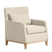 LILY nowoczesny fotel - beżowy