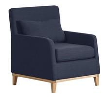 LILY nowoczesny fotel - niebieski