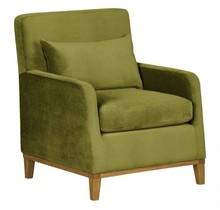 LILY nowoczesny fotel - zielony