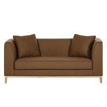 LILY nowoczesna sofa 2 os. - brązowy
