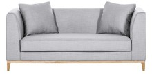 LILY nowoczesna sofa 2 os. - szary