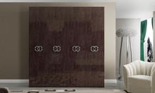 Szafa5 - drzwiowa PRESTIGE UMBER w kolorze bursztynowego brązu z płyty MDF. Szafa w całości lakierowana na wysoki połysk, a wnętrze...