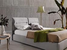 """Włoskie łóżko """" Academy """". Rama łóżka wykoanna z drewna litego, oklejona specjalną pianką poliuretanową wysokiej jakości...."""