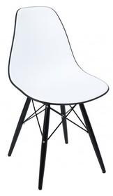 """Włoske krzesło """"Aquarello"""" lekkie, nowoczesne i kolorowe. Dostępne w 7 kolorach. Siedzisko wykonane z masy plastycznej. Nóżki drewniane..."""