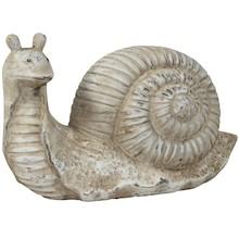 Efektowna figurka w kształcie ślimaka z muszlą to ciekawy element dekoracyjny. Pięknie wykonana, postarzana, średnich rozmiarów powinna dobrze...