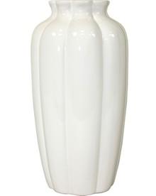 Elegancki, biały wazon to świetne rozwiązanie do wnętrz nowoczesnych, równie prostych i stylowych. Na pewno będzie wyjątkową ozdobą w każdym salonie...