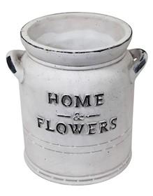 """Doniczka """"Home & Flowers"""" Biała"""