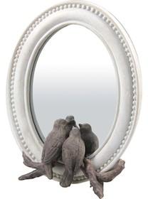 Bardzo stylowe lustro stanie się wyjątkową ozdobą każdego wnętrza. Ozdobione zostało przyjemnymi dla oka ptaszkami, przez co całość wygląda bardzo...