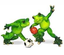 Figurka przedstawiająca żabkę piłkarza.  Kolekcja zielonych, ceramicznych, pięknie wykonanychfigurek żab. Różne rozmiary i...