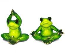 Figurka przedstawiająca żabkę ćwiczącą jogę.  Kolekcja zielonych, ceramicznych, pięknie wykonanychfigurek żab. Różne rozmiary i...