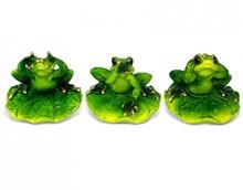 Figurka przedstawiająca żabkę siedzącą na liściu.  Kolekcja zielonych, ceramicznych, pięknie wykonanychfigurek żab. Różne rozmiary i...
