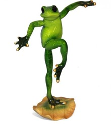 Figurka przedstawiająca żabę - samca w pozie tanecznej.  Kolekcja zielonych, ceramicznych, pięknie wykonanychfigurek żab. Różne rozmiary i...