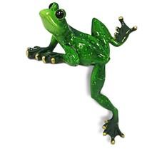 Figurka przedstawiająca wspinającą się żabę.  Kolekcja zielonych, ceramicznych, pięknie wykonanychfigurek żab. Różne rozmiary i...
