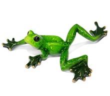 Figurka przedstawiająca pływającą żabkę.  Kolekcja zielonych, ceramicznych, pięknie wykonanychfigurek żab. Różne rozmiary i...