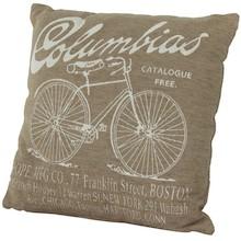 Poduszka Columbias Beżowa z Rowerem