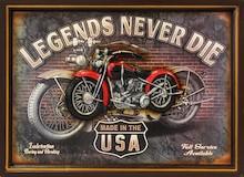 Obraz w stylu amerykańskim, przestawiający motocykl stworzony w USA to ciekawa dekoracja ścienna do salonu, przedpokoju czy pokoju młodzieżowego....