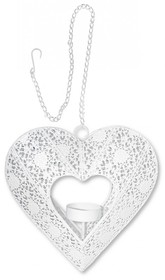 Zawieszka w formie metalowego serca w białym kolorze posiada ponadto miejsce na świeczkę typu T-Light. To stylowe i bardzo efektowne rozwiązanie, dzięki...
