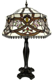 Niebanalna, bogato zdobiona lampa witrażowa to świetne rozwiązanie do wszystkich eleganckich wnętrz. Znakomicie sprawdzi się w każdym salonie oraz wielu...