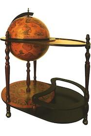 Ten wyjątkowy barek to połączenie klasycznego stolika na kółkach i stylizowanego barku w kształcie globusa. Wszystko utrzymane w spójnej kolorystyce i...