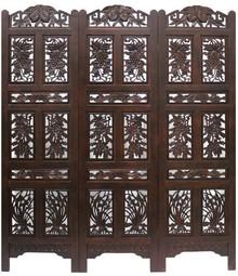 Piękny, ażurowy drewniany parawan. Solidna konstrukcja i dbałość o szczegóły wykonania tworzą przebogaty mebel, który udekoruje każde wnętrze. Trzy...