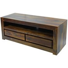 Prosty w budowie, wykonany z solidnego drewna stolik RTV to dobry mebel do niejednego mieszkania. Ramy pogrubione, bardzo szerokie, dodają charakteru i...