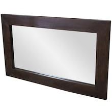 Proste lustro w szerokiej ciemnej ramie będzie się pięknie prezentowało we wnętrzach nowoczesnych i eleganckich, jak i tychtradycyjnie...