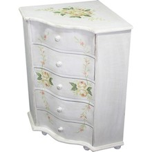 Pełna uroku, niebywale dziewczęca szafka w białym kolorze to stylowy mebel, który może się sprawdzić w bardzo różnorodnych wnętrzach. Będzie...