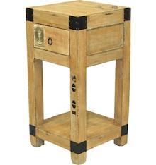 Bardzo oryginalna, drewniana szafka nocna to bardzo pomysłowe i ciekawe rozwiązanie do nowoczesnych wnętrz. Szafka wyposażona w szufladę i półkę;...