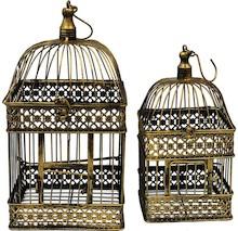 Ozdobne klatki dla ptaków. Kolekcja przedstawia najróżniejsze modele klatek dekoracyjnych. Mniejsze i większe, w różnych kształtach i kolorach,...