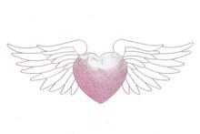 Efektowna i oryginalna ozdoba ścienna w formieserca z anielskimi skrzydłamipięknie wkomponuje się do niejednego wnętrza i uzupełni pustą...