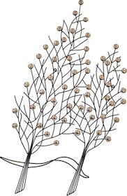 Efektowne i oryginalne ozdoby ścienne w formie drzewek pięknie wkomponują się do niejednego wnętrza i uzupełnią pustą ścianę. Ozdoby dostępne są w...