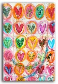 Efektowny, bardzo ciekawy i pomysłowy obraz z kolorowymi sercami stanie się wyjątkową dekoracją w każdym wnętrzu. Może być świetnym rozwiązaniem do...
